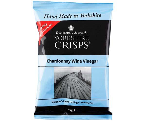 Yorkshire Crisp - Chardonnay Wine Vinegar - 24x40g