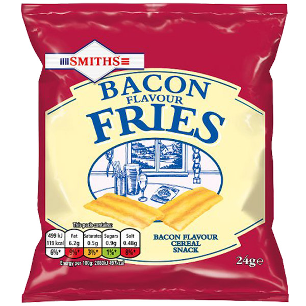 Smiths - Bacon Fries - 24x24g Card