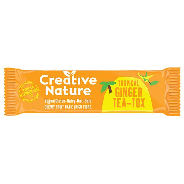 Creative Nature - Detoxing - Ginger Teatox Flapjack - 20x38G