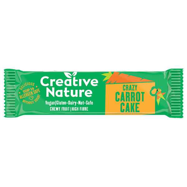 Creative Nature - Snack Bar - Carrot Cake - 20x38G