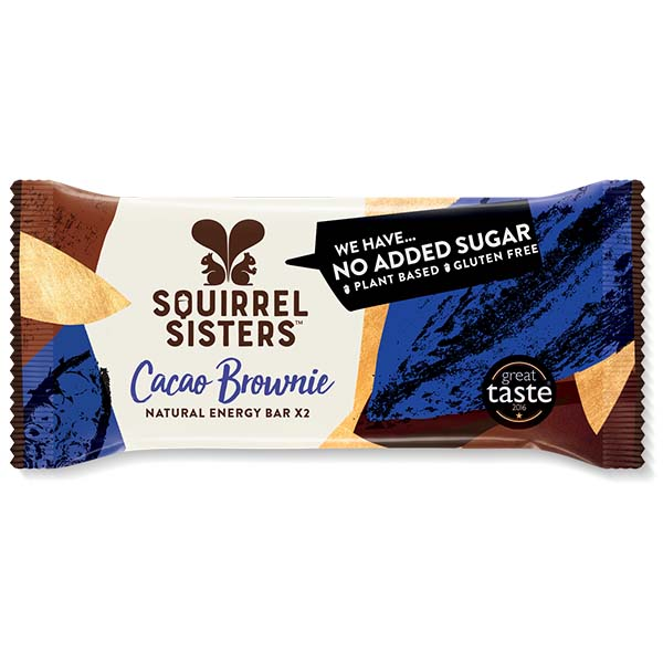 Squirrel Sisters Raw Snack Bar - Cacao Brownie - 16x40g