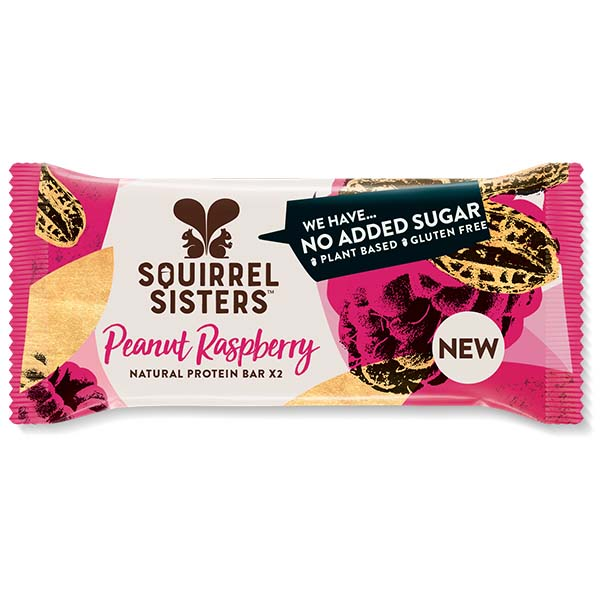 Squirrel Sisters Raw Snack Bar - Raspberry Ripple - 16x40g