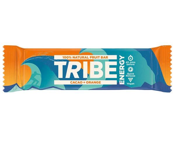 Tribe - Energy Bar - Vegan Cacao & Orange - 16x42G