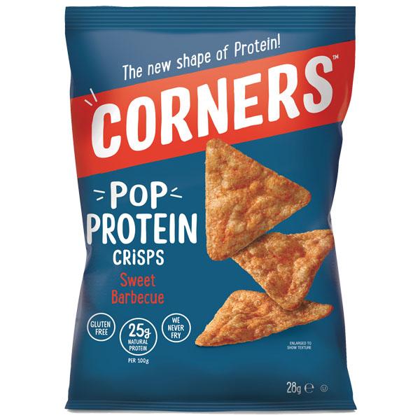 Corners Pop Protein Crisps - Sweet Barbeque - 18x28G