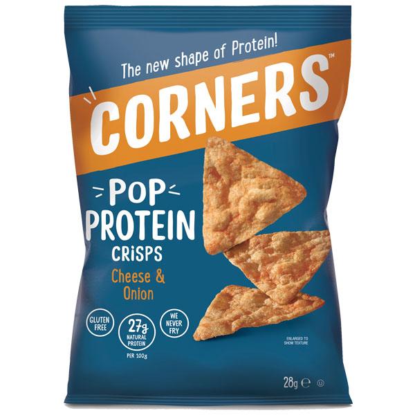 Corners Pop Protein Crisps - Cheese & Onion - 18x28G