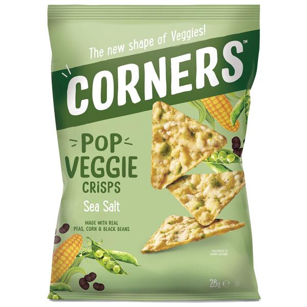 Corners Pop Veggie Crisps - Sea Salt - 18x28g