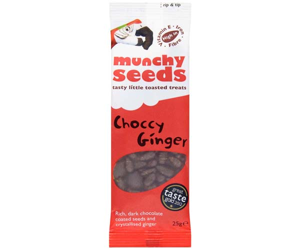 Munchy Seeds - Choccy Ginger - 12x25g