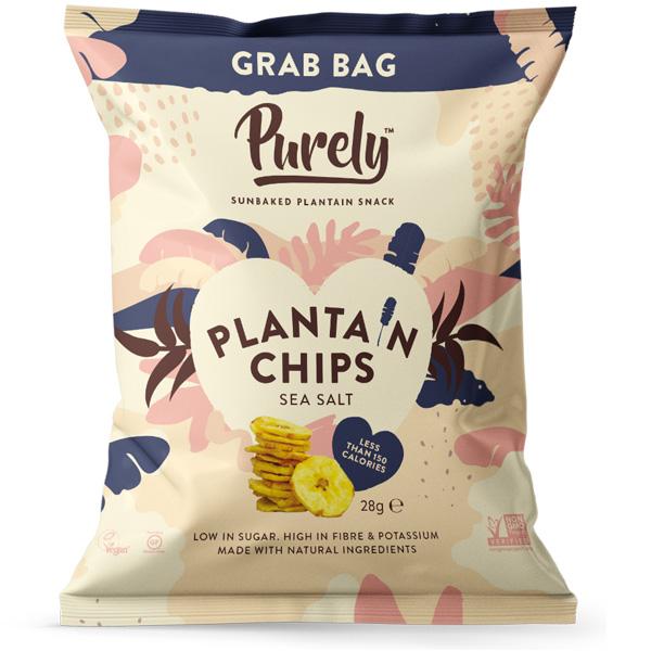 Purely Plantain Chips - Sea Salt - 20x28g