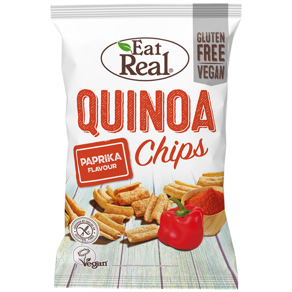Eat Real - Quinoa Chips - Paprika  - 12x30g