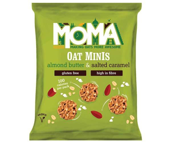 Moma - Oat Minis - Almond Butter & Salted Caramel - 14x28G