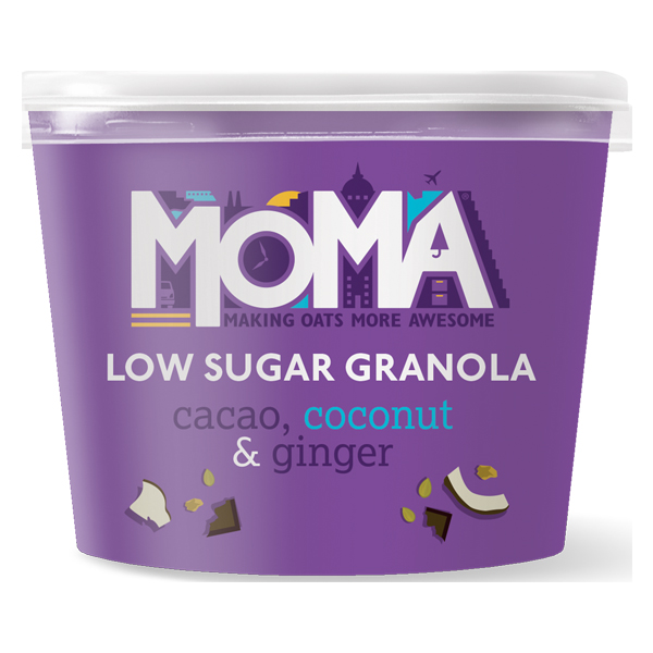 Moma Granola Pot - Cacao, Coconut & Ginger - 12x50g
