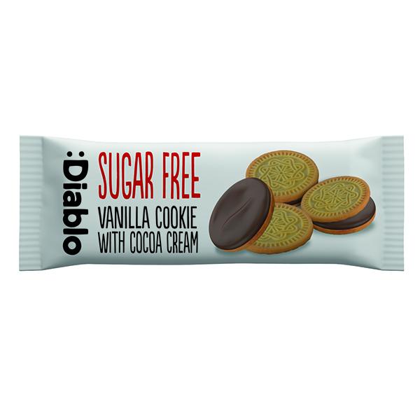 Diablo - Sugar Free Cocoa Cookie With Vanilla Cream - 48x44g