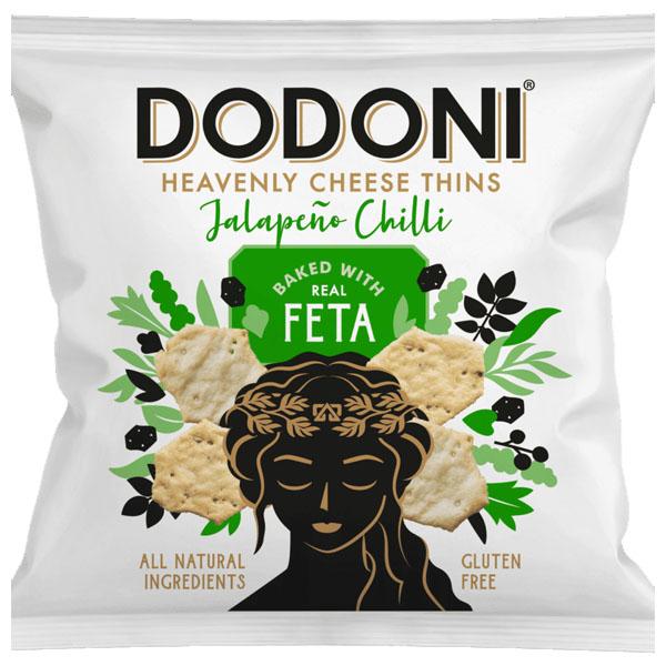 Dodoni Feta Jalepeno Thins - 10x22g