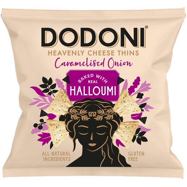 Dodoni Halloumi Caramalized Onion Thins - 10x22g