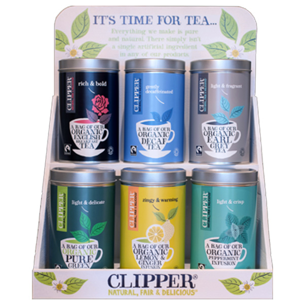 Clipper Display Stand with 6 Tea Caddies - x1
