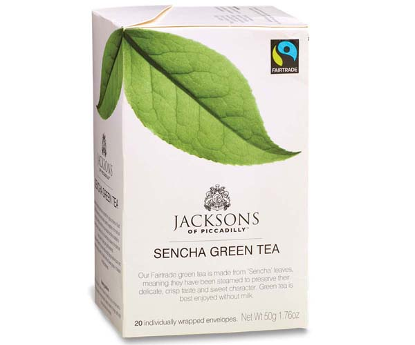 Jacksons Of Piccadilly F/T - Green Tea - Env - 4x20