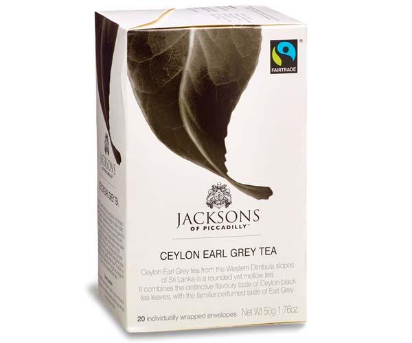 Jacksons Of Piccadilly F/T - Ceylon Earl Grey - Env - 4x20