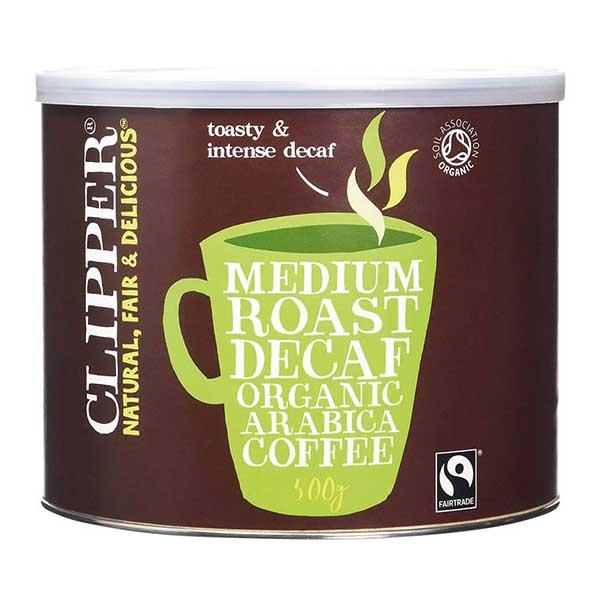 Clipper Coffee - F/T Organic Decaf Arabica  - 1x500g Tub