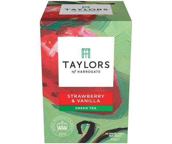 Taylors Kew Range - Green Tea With Strawberry & Vanilla-3x20