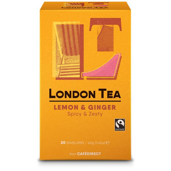 London Tea Company - Zingy Lemon & Ginger - E,S&T - 6x20
