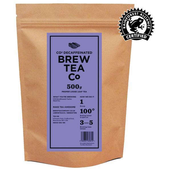Brew Tea - Loose Leaf - Co2 Decaffeinated - 1x500g