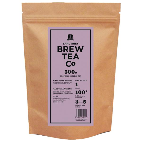 Brew Tea - Loose Leaf - Earl Grey - 1x500g