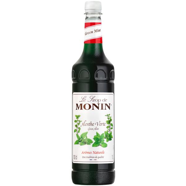 Monin - Plastic - Green Mint Syrup - 1x1L