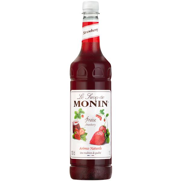 Monin - Plastic - Strawberry Syrup - 1x1L