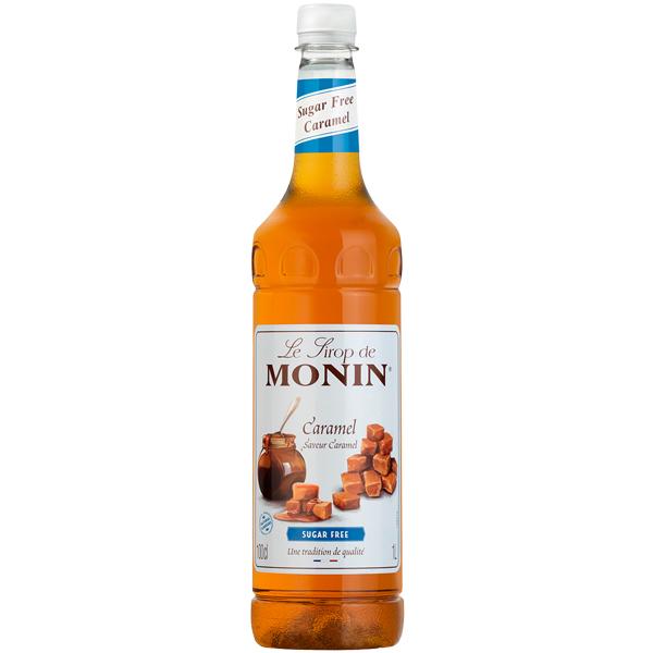 Monin - Plastic - Sugar Free Caramel Syrup - 1x1L