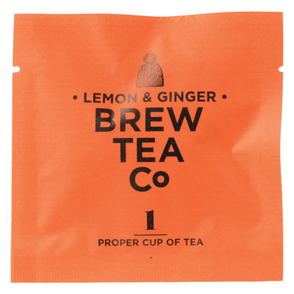 Brew Tea - Env Tea Bags - Lemon & Ginger - 1x100 Box