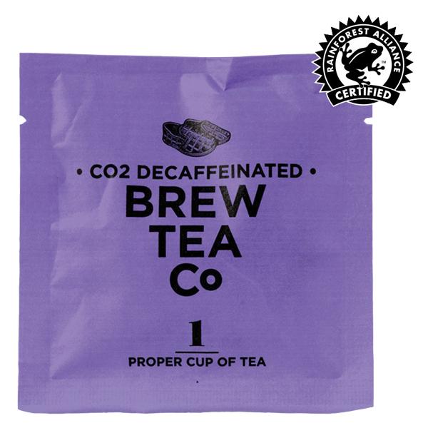 Brew Tea - Env Tea Bags - Co2 Decaffeinated Tea - 1x100 Box