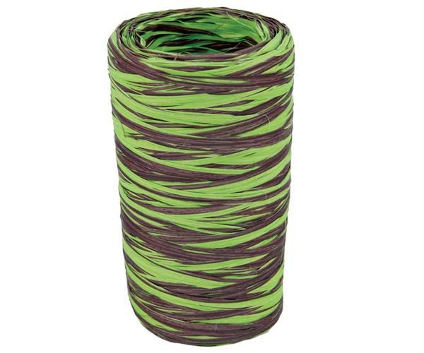 Raffia Roll - Chocolate & Lime - 5M x 200M - Ttraf/Lc