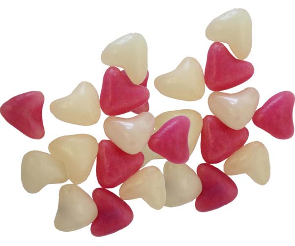Pink & White Heart Jelly Beans - 3kg Bag