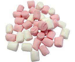 Haribo Pink & White Mini Mallows x1kg Bag