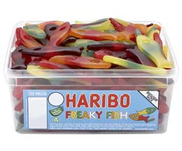 Haribo Freaky Fish 120Pcs Tub
