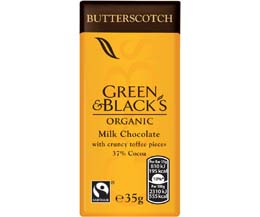 Green & Blacks - Butterscotch - 30x35g