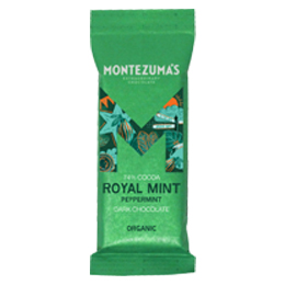 Montezumas - Royal Mint - Organic 74% Dark Chocolate with Mint - 26x25g