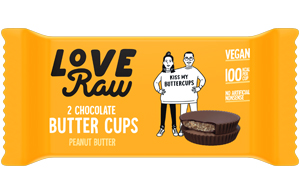 Love Raw Butter Cups - Peanut Butter - 18x34g