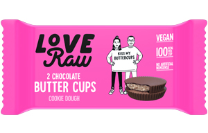 Love Raw Butter Cups - Cookie Dough - 18x34g