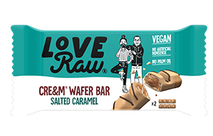 Love Raw - Vegan Cre&m Wafer Bars - Salted Caramel - 12x43g