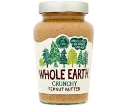 Whole Earth Crunchy Peanut Butter - 6x454g