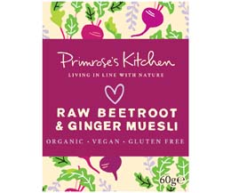 Primrose's Kitchen - Org Raw Beetroot & Ginger Muesli - 24x60g