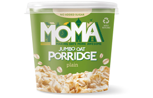 Moma Porridge - No Added Sugar Plain (Green) - 12x70g