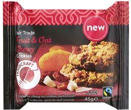 Fairtrade Traidcraft Fruit/ Oat Cookies - 16x45g