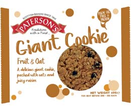 Patersons (Bronte) - Giant Cookies - Fruity Oat - 18x50g