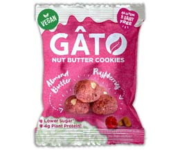Gato Nut Butter Cookies - Almond Butter & Raspberry - 10x33g