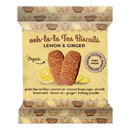 Rhythm 108 - Lemon & Ginger Tea Biscuit - 12x24G