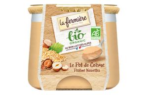 La Fermiere - Organic Creamy Praline Hazelnut Dessert - 6x125g