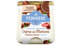La Fermiere Glass Yoghurt Jar - Chestnut - 6x160g