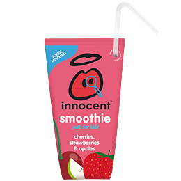 Innocent Kids Wedge Smoothie - Cherry & Strawberry - 16x150ml